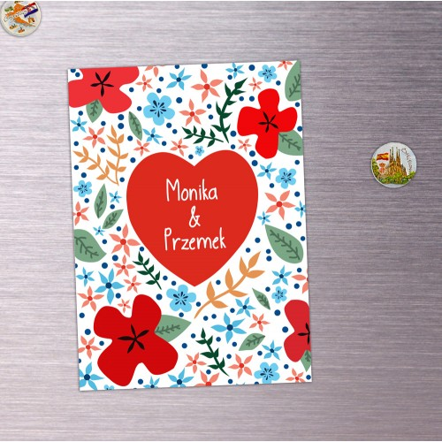 Magnes Personalizowany Flower